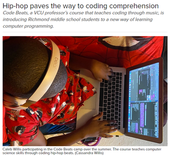 VCU Article: Hip-hop Paves the way to Coding Comprehension