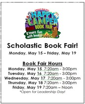 May BOOK FAIR!