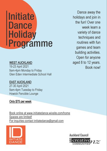 Initiate Dance Holiday Programme - April 2021