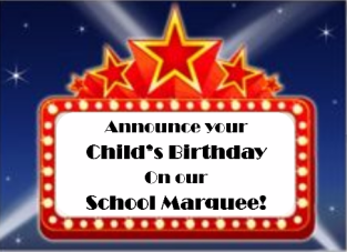 Birthday Wishes in Big Lights!
