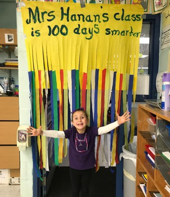 Ms Hanan's class is 100 days smarter!