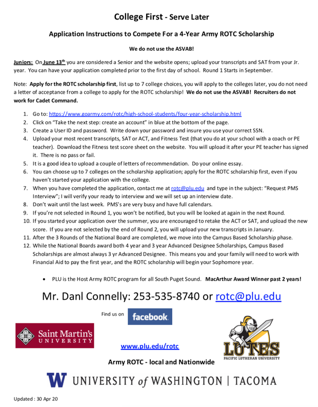 Seniors, it's not too late to apply! Contact Danl Connelly today!