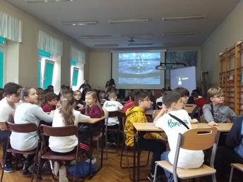 Students enjoying presentations