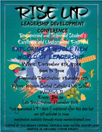 Register your 6th - 8th Grader for our 9th Annual RISE UP Leadership Development Conference!