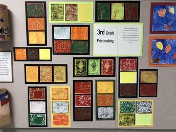 3rd Grade Printmaking