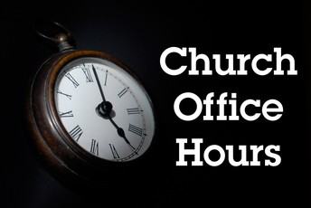 New Church Office Hours