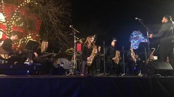Ryan HS Jazz at Denton Square Tree Lighting