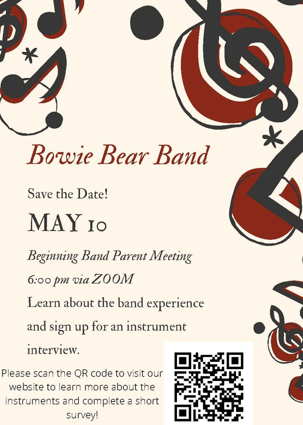 Bowie Bear Band - Calling all 5th Graders