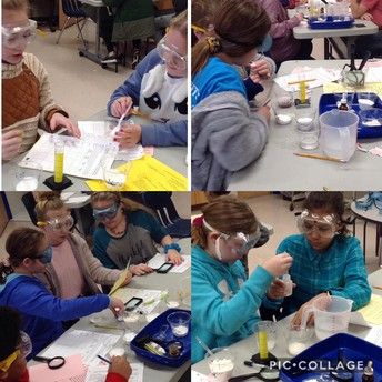 White Powder Lab in Mrs. May's room