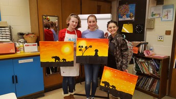 Students show off the finished Project to take home!