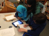 Dewey Decimal Practice/Library Catalog work on the iPads
