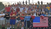 Students Encourage Panther and Military Pride