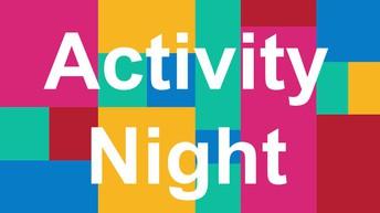 Elementary Activity Night is Friday, October 25