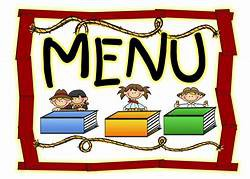 Breakfast and Lunch Menus for On Campus Learners