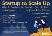 New High Impact Online Program (HiOP) on Scaling Up