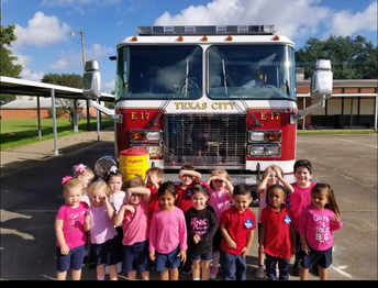 Pre-K 3 learning about the Fire Department