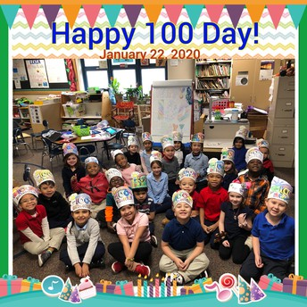 Students were very excited to celebrate the 100th day of school this week!