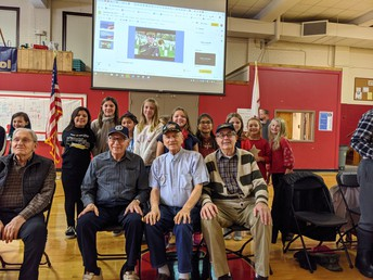 They visited during Veteran's Day.