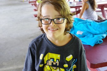 young student with glasses in extended learning program