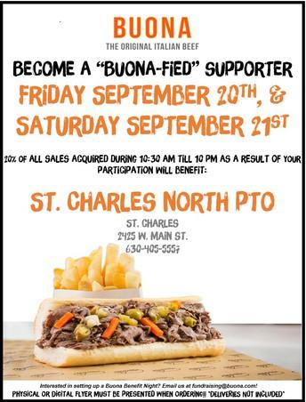 PTO Fundraiser! All day on September 20 & 21!