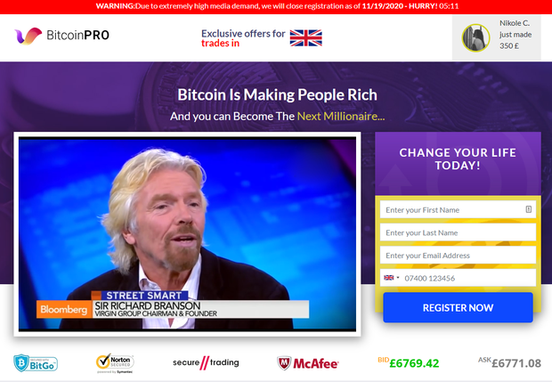 Bitcoin Pro official site