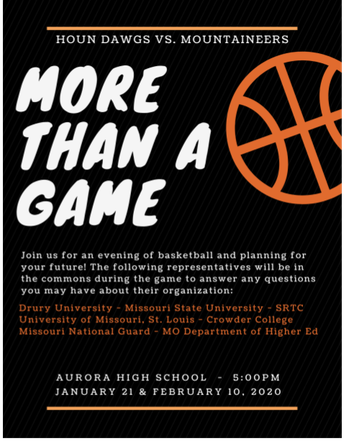 More Than A Game Night - Monday, February 10th at 5 pm