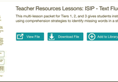 Multi-lesson packet for Tiers 1, 2, and 3