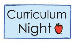 Make sure to come to curriculum night!