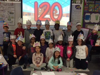We celebrated the 120th day of school!