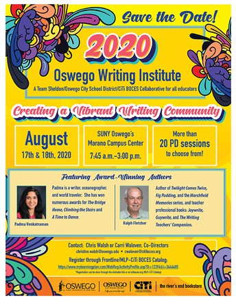 Oswego Writing Institute- Annual, FREE, Summer Professional Development