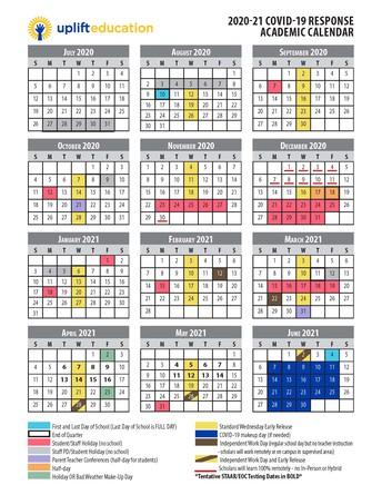 Updated Parent Calendar