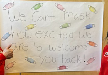 We can't mask our excitement!