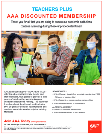 AAA Discount - Existing and Potential Members!