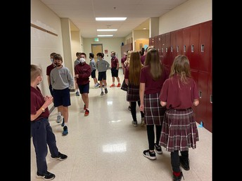 5th Graders Touring Middle School