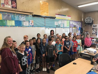 Ms. Tantardino & Ms. Michelle with our 5th graders!