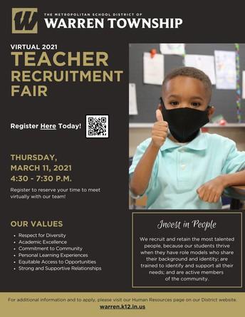 2021 Teacher Recruitment Fair
