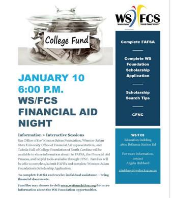 WSFCS Financial Aid Night - January 10th