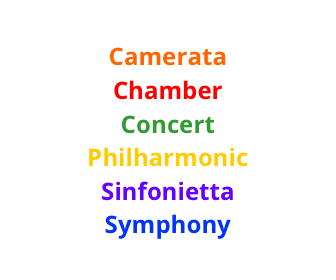 Orchestra Color Coding