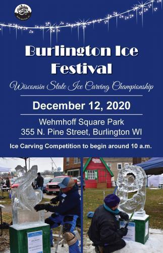 BURLINGTON ICE FEST - SANTA PLANS A VISIT