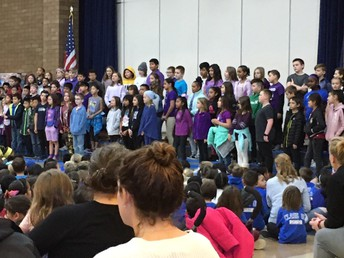 Fourth Graders Perform at the Brilliant Bobcat Assembly