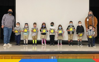 Shining star recipients for March.