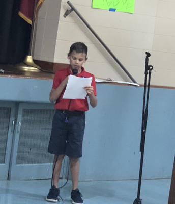 Our new Historian giving his candidate speech during our Falcon Council Elections