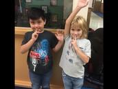1st Graders Showin' Off Great Hallway Behavior