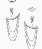 Drape Ear Jackets Silver Reg $49, Sale $25