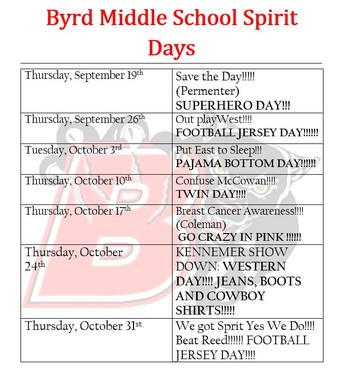 Show your Byrd Spirit - Updated