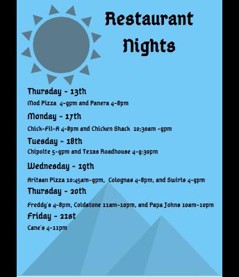 Legend's Wish Week Restaurant Nights 2/13-2/22