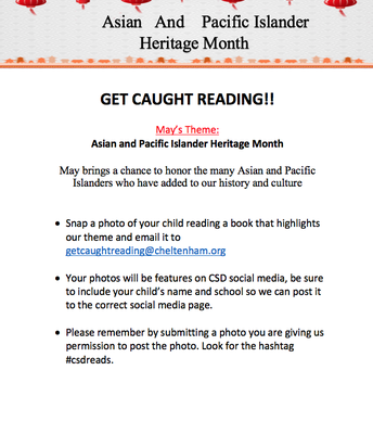 Get Caught Reading | Heritage Month
