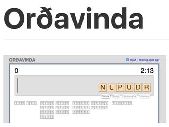 Orðavinda