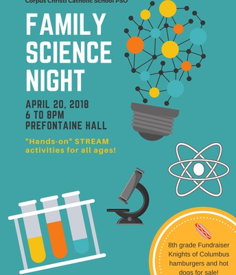 FAMILY SCIENCE NIGHT - FRIDAY, APRIL 20TH