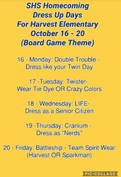 SHS Homecoming Week Oct. 16 - 20